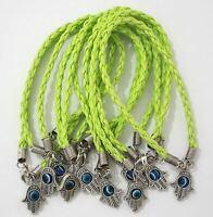 Hamsa Hand String Green Evil Eye Lucky Spiritual Bracelet Success Protection