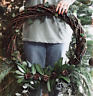 Large Natural Wicker Round Wreath for decorative home craft. 50cm round