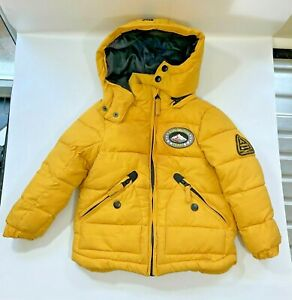 Children's Puffer Jacket by Nutmeg Exploration Team Waterproof Mustard 013657