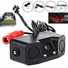 3 In 1 Car Reverse Backup Parking Radar Rear View Camera With Parking Sensor