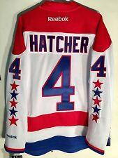 Reebok Premier NHL Jersey Washington Capitals Kevin Hatcher White sz S