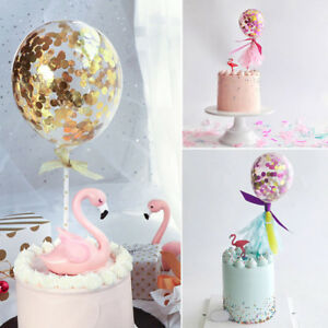 Ballons Ball Cake Topper Love Birthday Wedding Party Cupcake Dessert Decor Gift