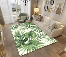 3D Tropical Leaves Green Non-Slip Rug Door Shower Play Mat Hearth Floor Carpet 3