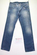 Wrangler Crank Destroyed (Cod. Y1297) tg47 W33 L34 jeans vita alta usato vintage