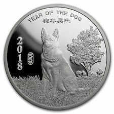 2018 Year of the Dog - 1 oz .999 Solid Silver Coin In Stock Now!