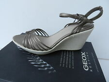 Geox D Alena Chaussures Femme 38,5 Escarpins Sandales Espadrilles Pearl UK5.5