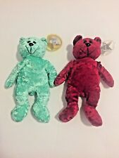 Classic Collecticritters Bears Limited Edition Jewel Series Bean Bags Lot Of 2