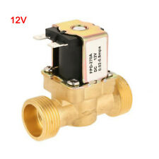 DC12V 1/2Inch Copper Electric Solenoid Valve Magnetic N/C Water Air Inlet Switch