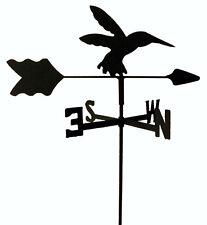 HUMMINGBIRD  GARDEN STYLE WEATHERVANE WROUGHT IRON LOOK MADE IN USA TLS1027IN