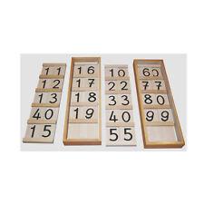 Montessori: Große Seguintafeln 10-19 und 10-99 im Set mit 2 Kästen und Deckel