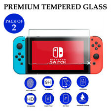 2X Custom Transparent Clear TEMPERED GLASS Screen Protection For Nintendo Switch