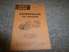 Caterpillar Cat 631 Motor Scraper Parts Catalog Manual Book S/N 56F1-56F568