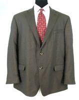 Geoffrey Beene Blazer Sz 50R Brown Check Sport Coat Jacket All Season NWOT