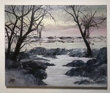 "FINE ART ORIGINAL OIL ON CANVAS ""ROSE DAWN"" BY ZEB. 16 X 20 Great Colors"