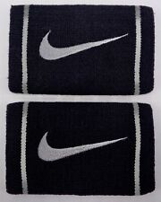 Nike Doublewide Wristbands Dri-Fit Black/Base Grey Men's Women's