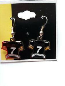 Ben Roethlisberger #7 Black Jersey Earrings Pittsburgh Steelers...NEW free ship