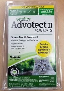 Advotect II Flea Prevention for Cats over 9lbs - 6 Doses - New & Free Shipping