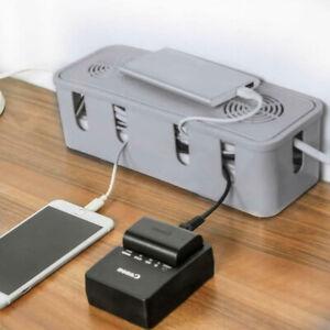 UK Cable Storage Box Case Wire Management Socket Safety Tidy Organizer Xmas Gift