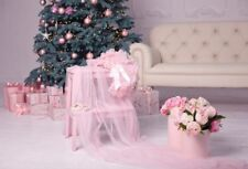 Pink Flowers Christmas Photography Background Photo Studio Props Backdrops Vinyl