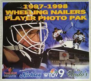 1997-98 Wheeling Nailers ECHL Hockey Player Photo Pak Trading Card Set Poster