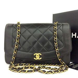 CHANEL Quilted Matelasse Diana 25 CC Logo Lambskin Chain Shoulder Bag /C1013