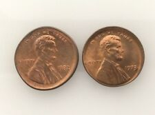 1982 P Type I and 1973 Broad-Struck Lincoln Cent 1c Two (2ct) coins NICE