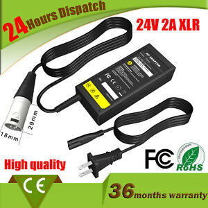 24V Electric Scooter Battery Charger for GT Currie Mongoose Schwinn EZIP 2A US