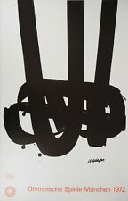 Pierre SOULAGES : Lithographie n°29, #Jeux Olympiques, Munich, 1972