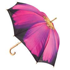 """Large Flower Umbrella - FLOWER CANE UMBRELLA - 48"""" Purple Cosmos Cane Umbrella"""