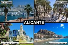 SOUVENIR FRIDGE MAGNET of ALICANTE SPAIN