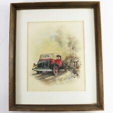 "Gary P. Miller Rare Original Pastel Drawing ""The U.S. Mail"" Signed & Framed"
