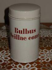 ANTIQUE FRENCH PORCELAIN APOTHECARY PHARMACY STORAGE JAR : Bulbus Scillae conc.