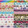 "2 Yard 5/8"" Flower Cat Rainbow Leopard Print Foldover Elastic FOE Band Tutu Trim"