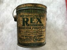 REX Fruit Jelly Vintage Tin, Corn Products Refining Co., New York, No Lid