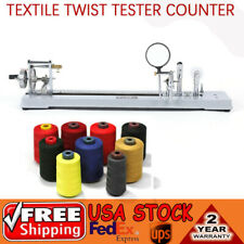 Manual Yarn Twist Tester Counter Fiber Textile Testing Machine Equipment Tool