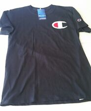 Champion large logo tee shirt, Navy  ,  select size X-Large