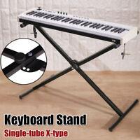 Black Keyboard Piano X Stand Electric Organ Rack Metal 7 Level Height Adjustable