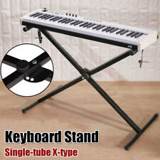 Black Keyboard Piano X Stand Electric Organ Rack Metal 7 Level Height Adjustable