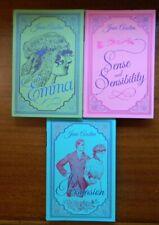 Jane Austen lot suede covers w/ribbon marker Emma Persuasion Sense & Sensibility