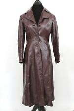 Vintage Wilsons Leather 70s Womens Trench Coat Oxblood Belted