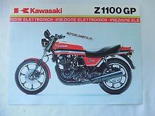 Kawasaki moto Z1100 GP GPZ  GPZ 1100  pubblicita brochure depliant motorcycles