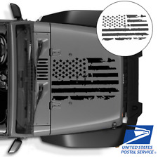 """Distressed USA Flag Truck Hood Sticker Graphic Decal for Jeep Hammer SUV 35""""x20"""""""