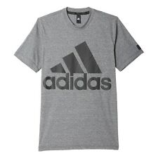 Adidas Athletics Id Logo Men's T Shirt Grey/Black