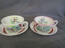 T5 CROWN DEVON FIELDINGS Stoke Trent Sailors Farewell 2 Oversized Cups & Saucers