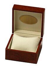 Uhrenbox für 1 Uhr Wurzelholz-Design kupferbraun Pianolack Uhrenschatulle