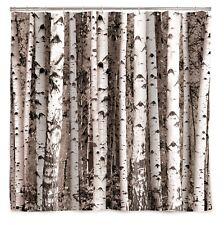 Kikkerland Silver Birch Tree Bathroom Shower Curtain Forest Design 180cm x 200cm