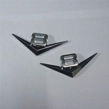 2x Chrome 8V Silver Metal Emblem Badge Sticker Decal 3D Logo Engine V8 Car Motor