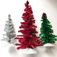 Dept 56 Classic Tinsel Trees Village Accessories Set of 3 Vintage Christmas