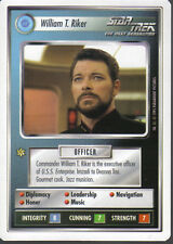 STAR TREK CCG WHITE BORDER PREMIERE 1995 BETA RARE CARD WILLIAM T. RIKER
