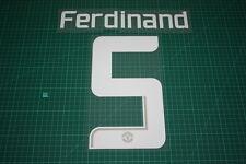 Manchester United 13/14 #5 FERDINAND UEFA CL Homekit / Awaykit Nameset Printing